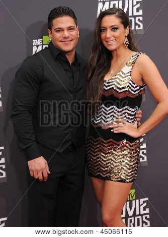 LOS ANGELES - APR 14:  Ronnie Ortiz-Magro & Sammi Giancola arrives to the Mtv Movie Awards 2013  on April 14, 2013 in Culver City, CA.