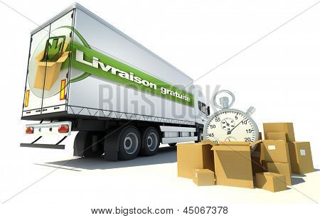 Urgent Truck transportation , free shipping service in French: Livraison gratuite