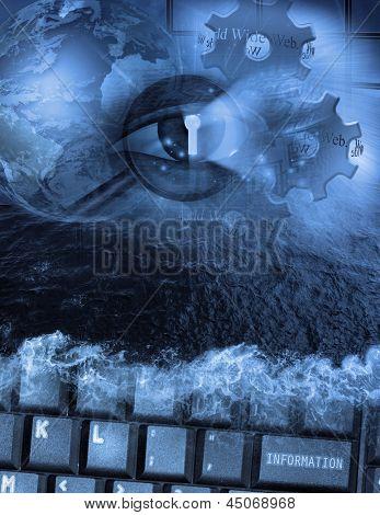 Seguridad y búsqueda electrónica de alta resolución