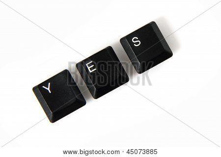 Keyboard Keys - Yes