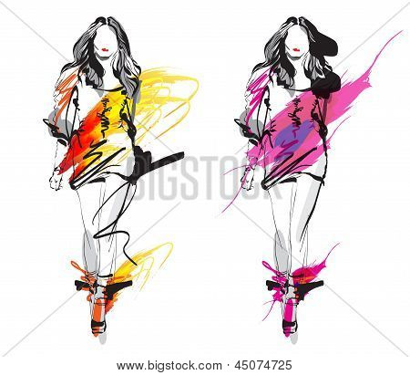 Artistic Fashion Sketches
