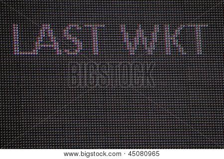 Cricket scoreboard - last wicket