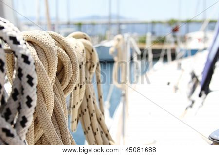 Ropes On The Yacht