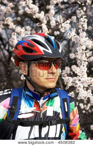 Spring Mountain Biker Portrait