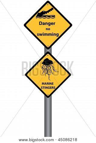 Perigo não natação