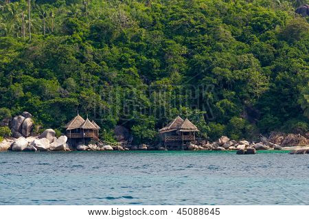 Bungalows On The Rocks By The Sea
