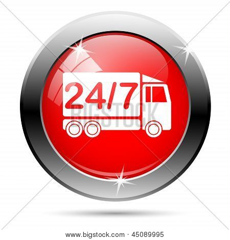 247 Delivery Truck Icon