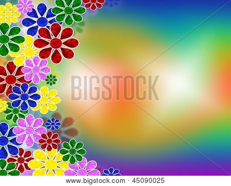 flowers on bright background