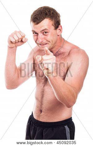 Furious Shirtless Man