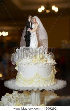 Top Of Cake At Wedding