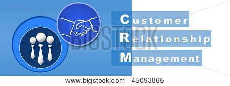 CRM Banner azul