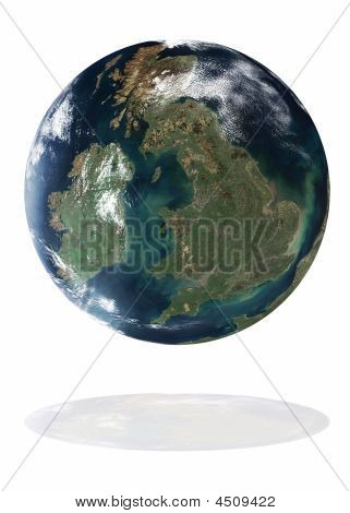 Great Britain On The Earth