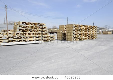 Stacks Of Wood Trestles