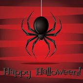 stock photo of freaky  - Spider Happy Halloween card in vector format - JPG
