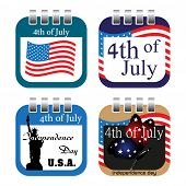 Fourth of July calendar sheets