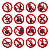 stock photo of fart  - Prohibited signs - JPG