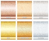 stock photo of bronze silver gold platinum  - Set of luxury metallic backgrounds - JPG
