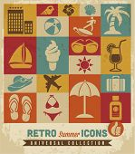 Verano icons set.Vector