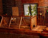 stock photo of panchakarma  - Interior of hindu ayurveda massage sauna - JPG
