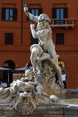 The Basin Part Of The Fontana Del Nettuno