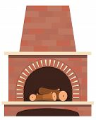foto of cozy hearth  - House fireplace vector on the white background - JPG