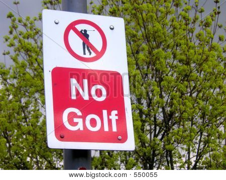 No Golf Sign