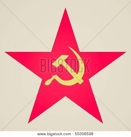 Vintage Look Communist Star