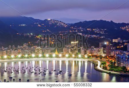 view of Botafogo and Guanabara bay in Rio de Janeiro