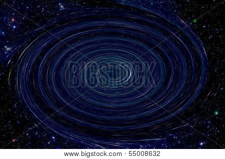 Starry Sky And Black Hole