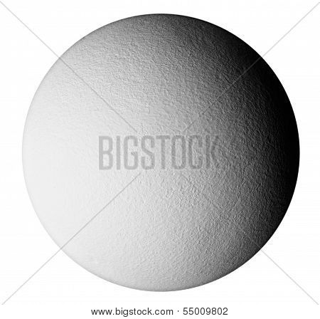 A Textured Grey Sphere With Shadows