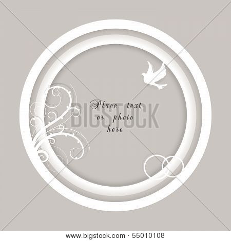 Vector wedding frame