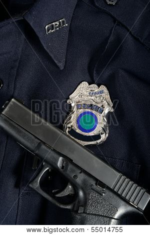 Police Uniform and Gun