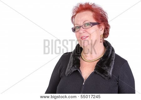 Senior Woman Looking At You Understanding And Welcoming