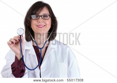 Sympathetic Healthcare Intern With Stethoscope