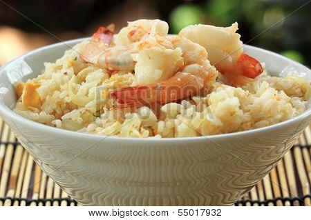 Stirfried Rice With Shrimp