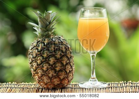 Fresh Pineapple And Juice
