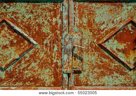 Old Rusty Metal Door. Hdr Picture