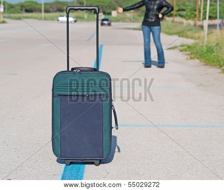Woman And Suitcase
