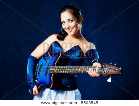Sexy Girl Playing The Guitar