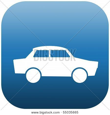 Blue Icon Car