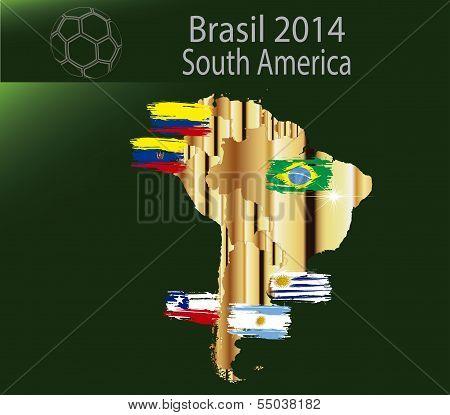 Brazil 2014 Team south america