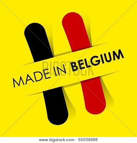 Made In Belgium Badge