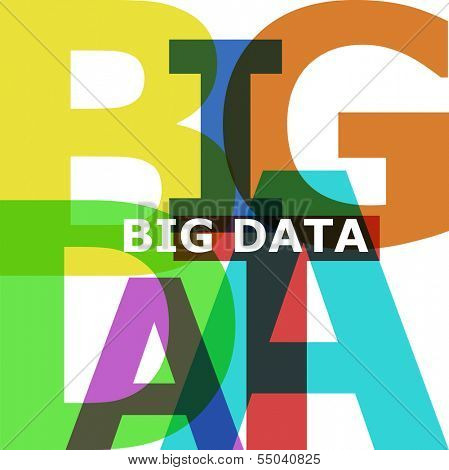 Big Data - vector abstract color text