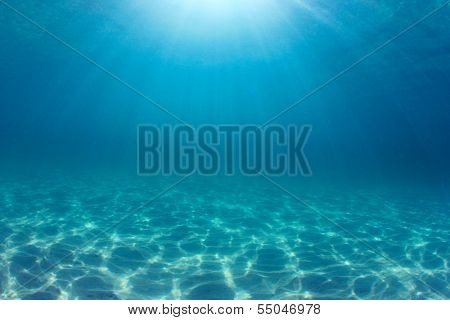 Ocean background underwater
