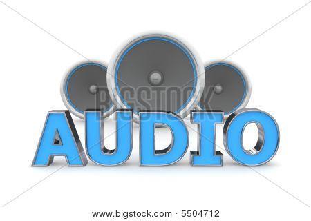 Speakers Audio - Blue