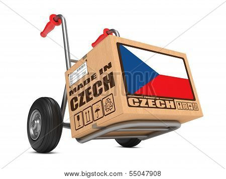 Made in Czech - Cardboard Box on Hand Truck.