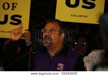 Hector Figueroa, SEIU Leader, speaks