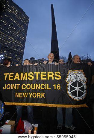 Teamsters #16 Banner in solidarity