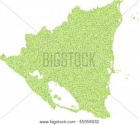 Map of Nicaragua - America -