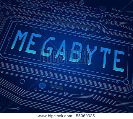 Megabyte Concept.